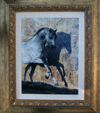 Framing of soft pastel paintings by artist lesley harrison framing image framed pastel painting titled ciclone and his shadow by lesley harrison solutioingenieria Image collections